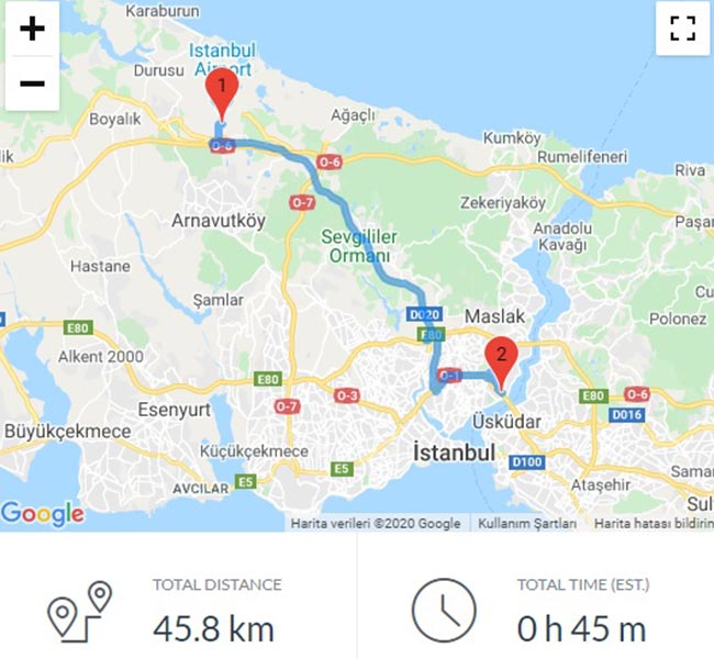 transfer from istanbul airport to bosphorus